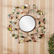 Wildon Home    Bradshaw Decorative Metallic Leaf Wall Mirror