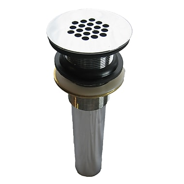 Novatto Strainer Vessel Sink 2.375'' Grid Shower Drain; Chrome