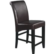 OSP Designs Parsons 24'' Bar Stool with Cushion; Espresso Bonded Leather