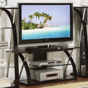 Poundex Bobkona Jasper TV Stand; Black