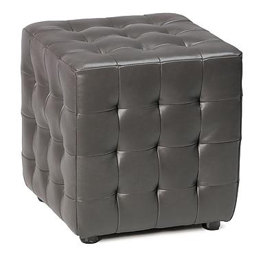 Cortesi Home Izzo Cube Ottoman; Gunmetal Grey