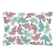 KESS InHouse Peacock Feathers by Pom Graphic Design Cotton Pillow Sham