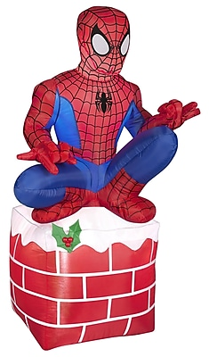 Gemmy Industries Airblown Inflatables Christmas Holiday Spider Man on Chimney Decoration WYF078278025458