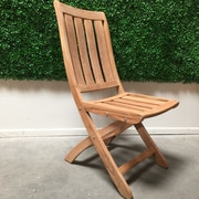 HiTeak Furniture Country Folding Dining Side Chair