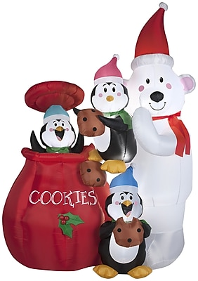 Gemmy Industries Airblown Inflatables Christmas Animated Cookie Jar and Friends Decoration WYF078278025439