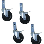 Buffalo Tools Pro-Series Hard Rubber Heavy-Duty Locking Caster (Set of 4)