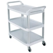 Rubbermaid Commercial Products Open Sided Utility Cart; Cream