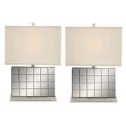EC World Imports Urban Designs Mirror 23'' Table Lamp Set (Set of 2)
