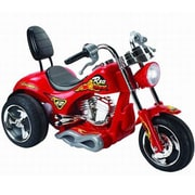 Big Toys Red Hawk 12V Battery Powered Motorcycle; Red
