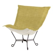 Howard Elliott Puff Scroll Lounge chair; Coco Peridot