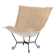 Howard Elliott Puff Scroll Lounge chair; Coco Stone