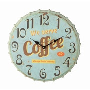 Creative Co-Op Casual Country 16'' Bottle Cap Wall Clock