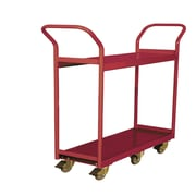 Wesco Mfg. Narrow Aisle 2 Book Cart; 25'' x 48.625'' x 61.75''