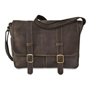 David King Strap Messenger Bag; Cafe / Dark Brown