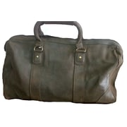 David King 18'' Distressed Leather Carry-On Duffe; Cafe / Dark Brown