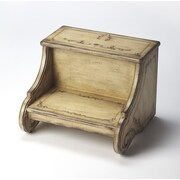 Butler Sussex Hand Painted Step Stool; Gilted Cream