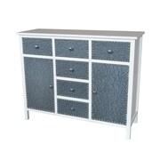Gallerie Decor Ritz Cabinet; Cream / Silver