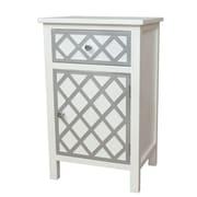 Gallerie Decor Trellis Accent Cabinet; Cream