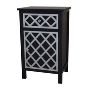 Gallerie Decor Trellis Accent Cabinet; Black