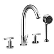 Dawn USA Double Handle Deck Mount Tub Filler Trim with Personal Hand Shower; Chrome