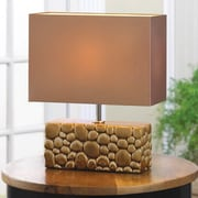 Zingz & Thingz River Rock 13.38'' H Table Lamp with Rectangular Shade