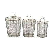 Woodland Imports 3 Piece Durable Baskets Set