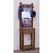 Sunny Designs Sedona Hat Rack in Distressed Oak with Mirror