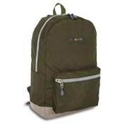 J World Lux Laptop Backpack; Khaki Green