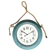 Cheungs 19.75'' Metal Wall Clock With Rope Hanger; Blue