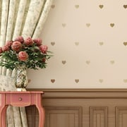Walls Need Love Hearts Mini-Pack Wall Decal; Gold