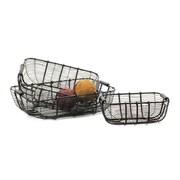 Hip Vintage 3 Piece Tabletop Wire Basket Set