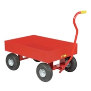 Little Giant USA 24'' x 36'' Steel Deck Wagon Truck with 6'' Sides and Pneumatic Wheels