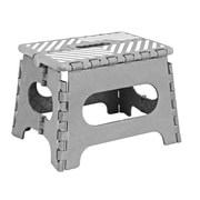 Simplify 1-Step Plastic Folding Step Stool with 200 lb. Load Capacity ; Gray