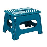 Simplify 1-Step Plastic Folding Step Stool with 200 lb. Load Capacity ; Sapphire