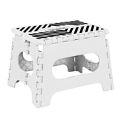 Simplify 1-Step Plastic Folding Step Stool with 200 lb. Load Capacity ; White