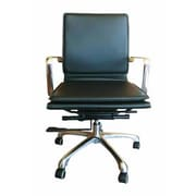 Creative Images International Low-Back Office Chair; Black