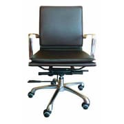 Creative Images International Low-Back Office Chair; Brown
