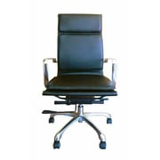 Creative Images International High-Back Executive Chair; Black
