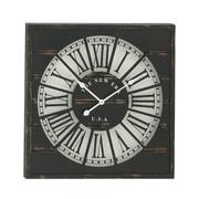 Woodland Imports Wall Clock; Black