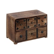 Woodland Imports Decorated w/ Metal Stripe Chest Box