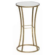 Prima Mirrored Square End Table; Gold Leaf
