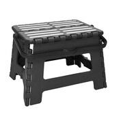 Simplify 1-Step Plastic Folding Step Stool with 200 lb. Load Capacity ; Black