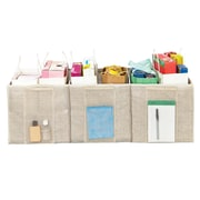 Simplify Trunk Shopping Bag Organizer; Faux Jute