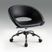 Creative Images International Mid-Back Office Chair; Black