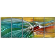My Art Outlet Push and Pull 5 Piece Original Painting Plaque Set