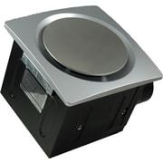 Aero Pure Super Quiet 80 CFM Bathroom Ventilation Fan; Silver