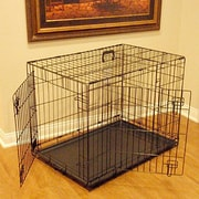 Majestic Pet Double Door Folding Pet Crate; Small (21'' H x 18'' W x 24'' L)