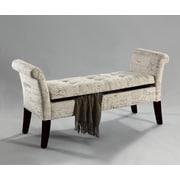 !nspire Tufted Fabric Storage Bench; White