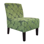 WorldWide HomeFurnishings Fabric Accent Chair; Green