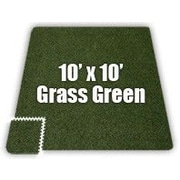 Alessco SoftCarpets Set in Grass Green; 10' x 10'
